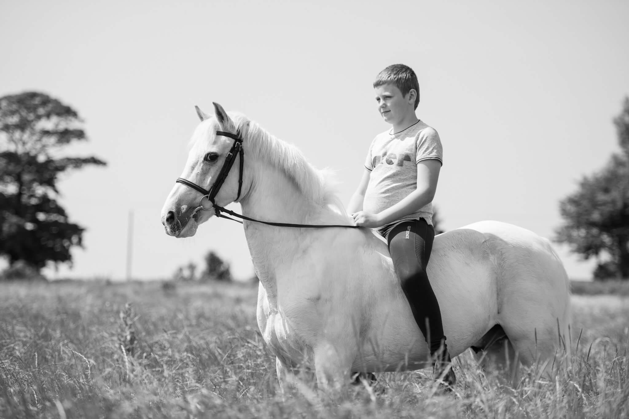 Grey-Pony-Ridden-Bareback